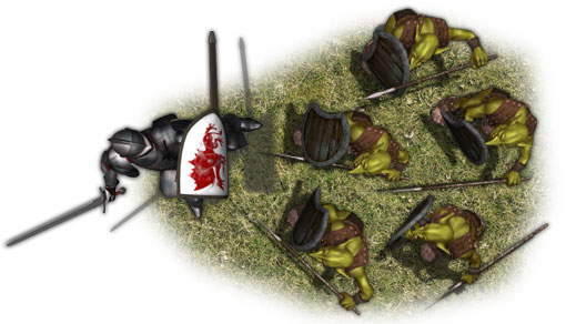 Forest Goblins Vs Knight