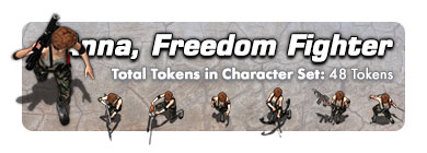 Anna the Freedom Fighter: 48 Tokens