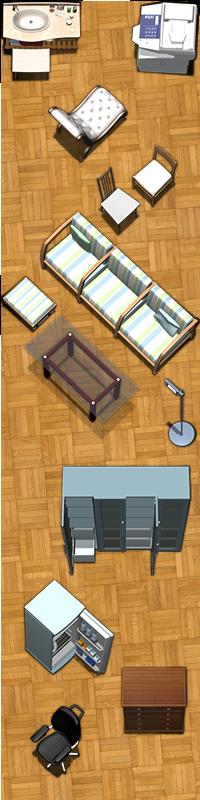 Modern Furniture Tokens Sample Image