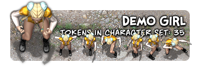 Character Sample: Demo Girl Character Token Set
