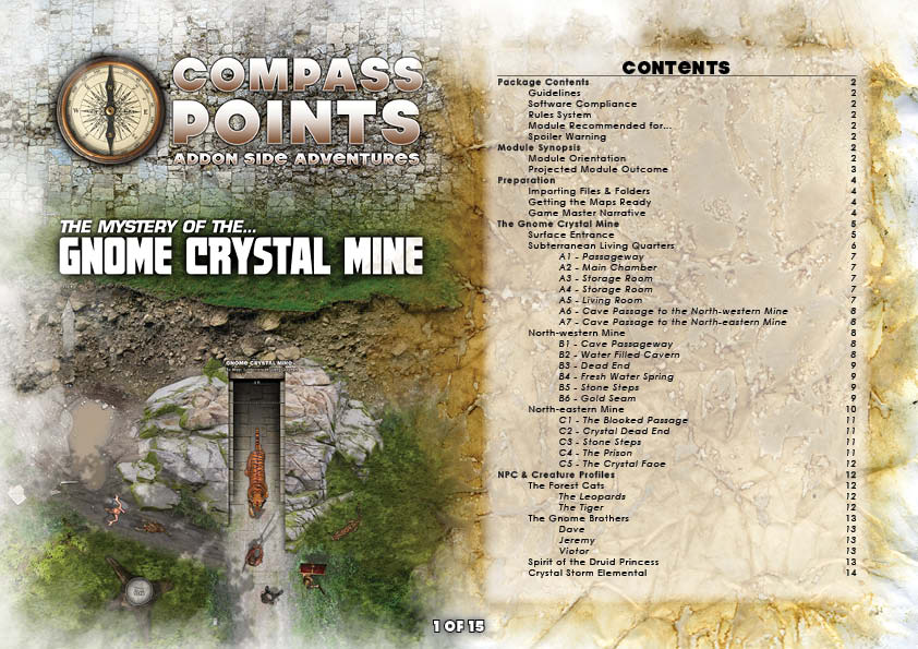 Gnome Crystal Mine - Sample Page 1