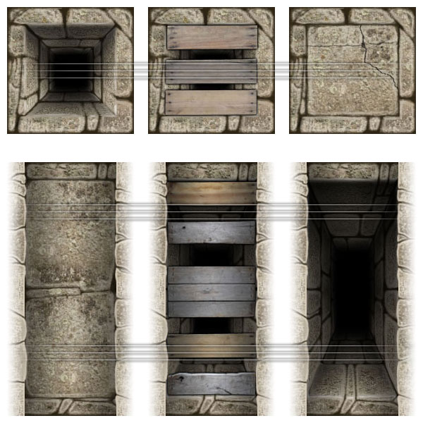 Dungeon Map Tiles: Pit Traps