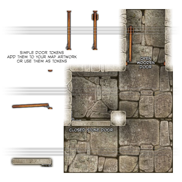 Dungeon Map Tiles: Odds-n-Ends