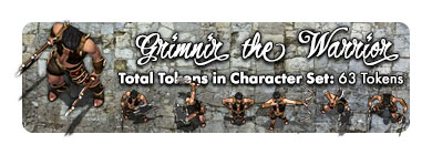 Grimnir the Warrior: 63 Tokens