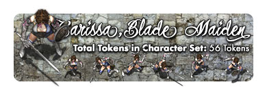 Karissa the Blade Maiden: 56 Tokens