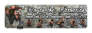 Kogan the Barbarian: 52 Tokens