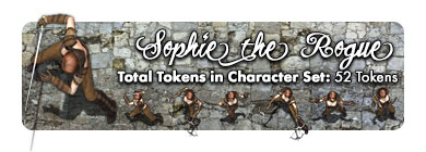 Sophie the Rogue: 52 Tokens