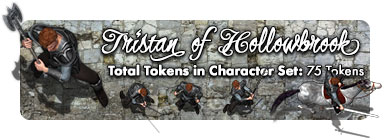 Sir Tristan of Hollowbrook: 75 Tokens
