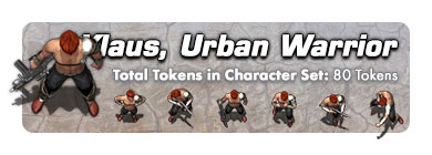 Klaus the Urban Warrior: 80 Tokens
