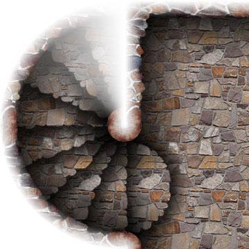 Dungeon map tiles II: steps sample