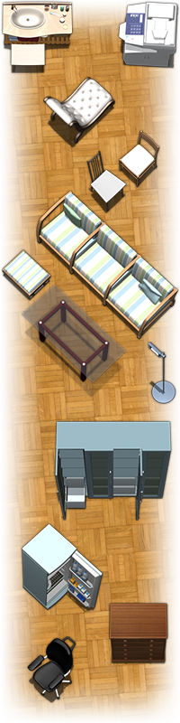 Modern Furniture Tokens Sample Image