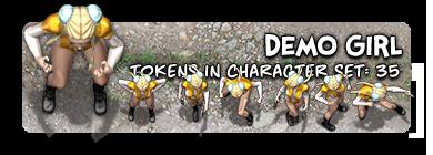 The Demo Girl Character Token Set