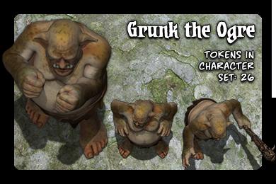 Grunk the Ogre: 26 Tokens in set