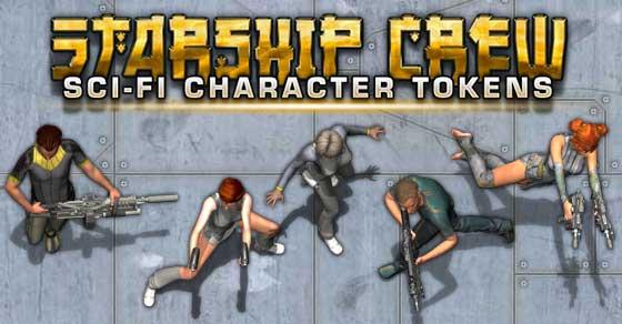 Starship Crew - Sci-fi Character Tokens - Studio WyldFurr