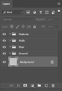 Setup Photoshop Layers Folders