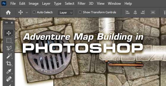 Adventure Map Building in Photoshop