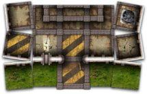 Iron Stone Map Tiles Sample Art