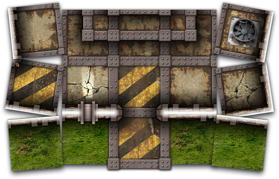 Iron Stone Map Tiles Sample Art