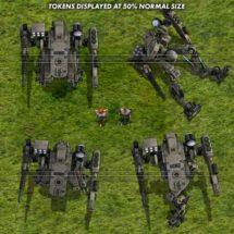 Light Combat Drone (Desert) - Mecha Tokens