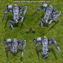Light Combat Drone (Winter) - Mecha Tokens