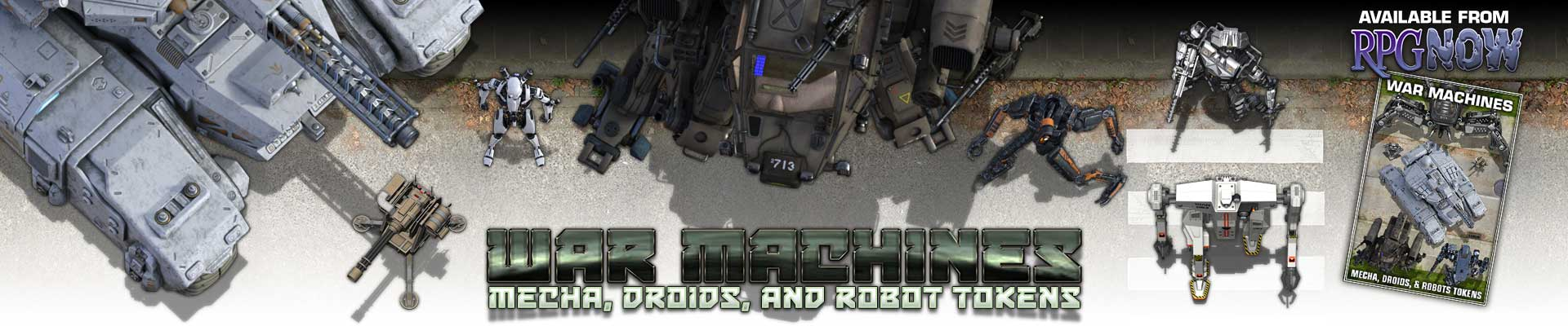 War Machines - Mecha, Droids, and Robot Tokens