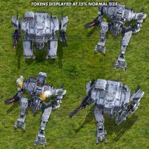 Battle Mecha (Winter) - Vehicle Tokens