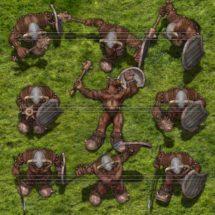 Bruin Orc Warrior - Monster Tokens