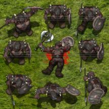 Grijis Orc Warlord - Monster Tokens