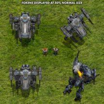 Heavy Combat Drone - Mecha Tokens