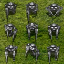 Invader Droid - Robot Tokens