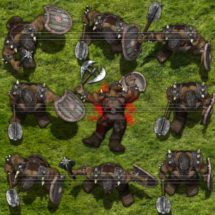Olijf Orc Warlord - Monster Tokens