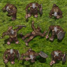 Olijf Orc Warrior - Monster Tokens