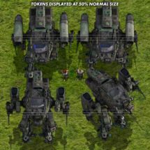 Scout Mecha (Jungle) - Sci-fi Vehicle Tokens