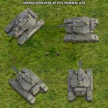 Drone Battle Tank (Urban) - Sci-fi Tank Tokens
