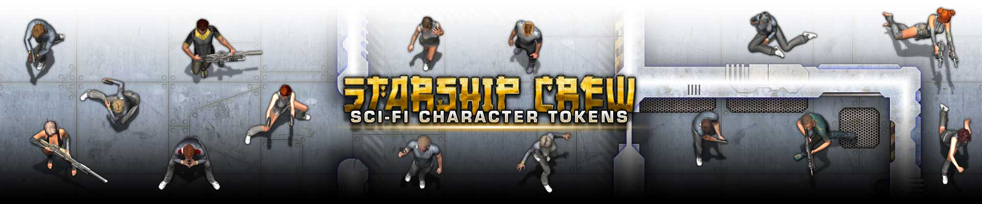 Starship Crew – Sci-fi Character Tokens