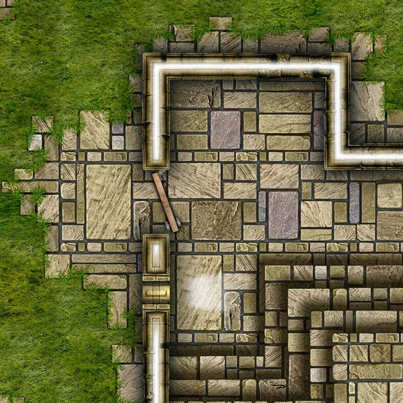 Dungeon Map Tiles V - Sample #1