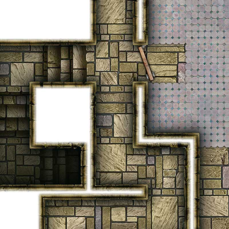 Dungeon Map Tiles V - Sample #2