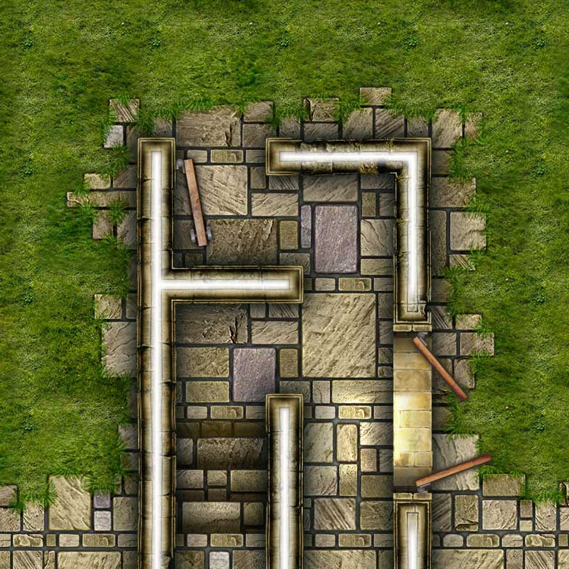 Dungeon Map Tiles V - Sample #4