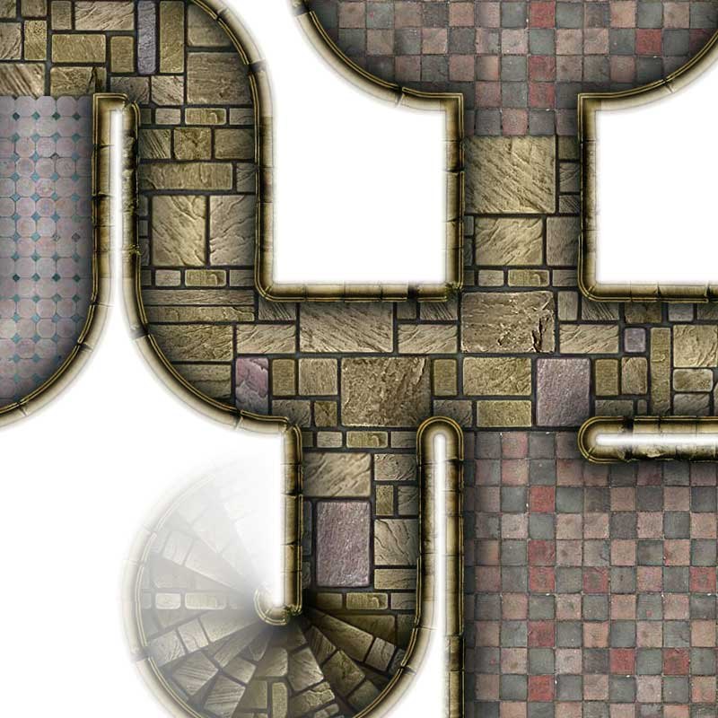 Dungeon Map Tiles V - Sample #3