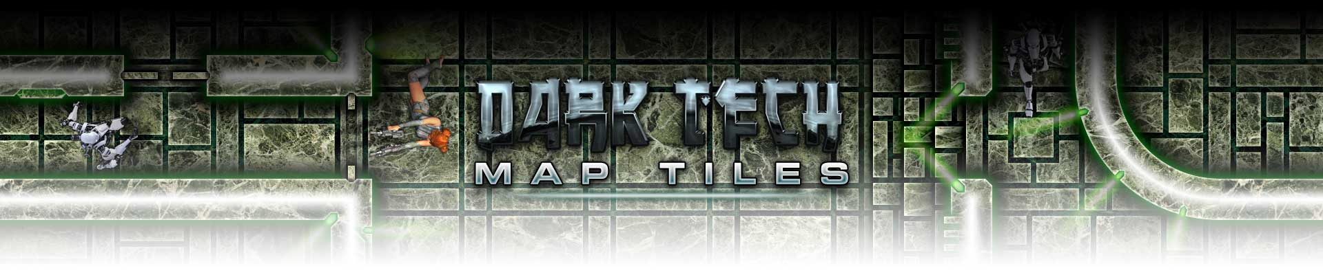 Dark Tech Map Tiles