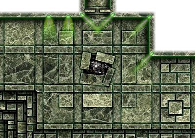 Dark Tech Map Tiles - Sample 1