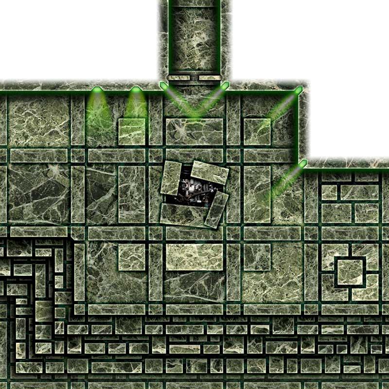 Dark Tech Map Tiles Sample 1