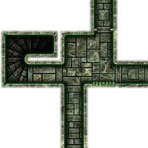 Dark Tech Map Tiles - Sample 2