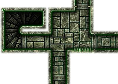 Dark Tech Map Tiles - Sample 2