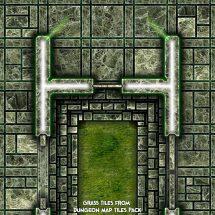 Dark Tech Map Tiles - Sample 3