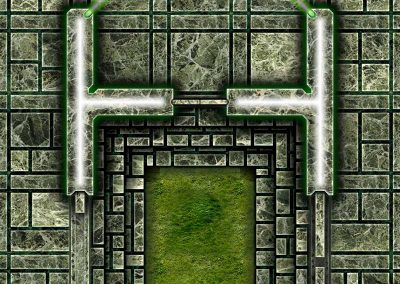 Dark Tech Map Tiles - Sample 3