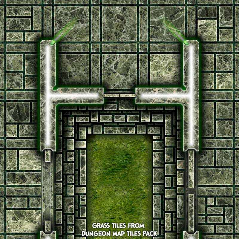 Dark Tech Map Tiles Sample 3
