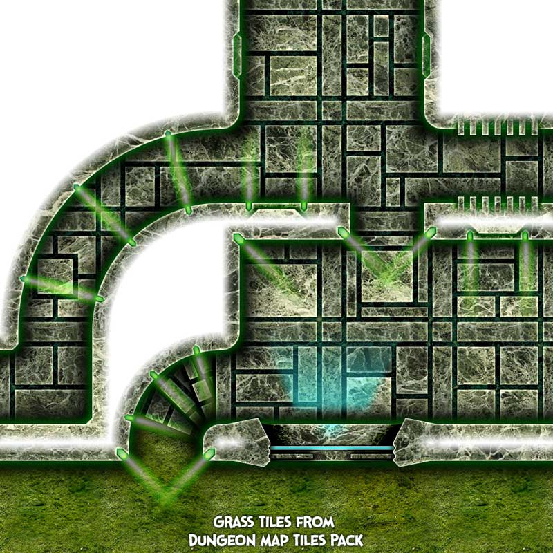 Dark Tech Map Tiles Sample 4