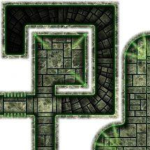 Dark Tech Map Tiles - Sample 6