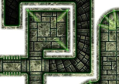 Dark Tech Map Tiles - Sample 6